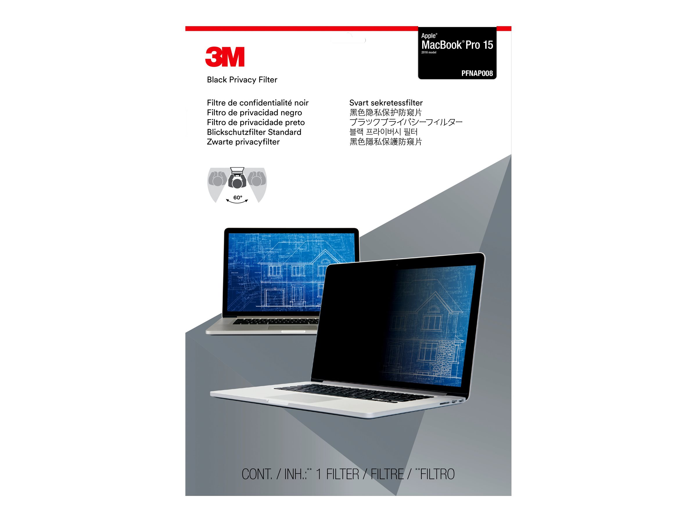 3M Privacy Filter for Apple Macbook Pro 15
