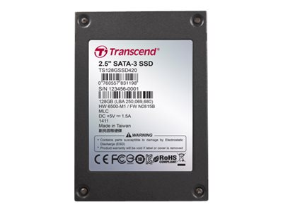 Transcend SSD420I Industrial - solid state drive - 256 GB - SATA 6Gb/s