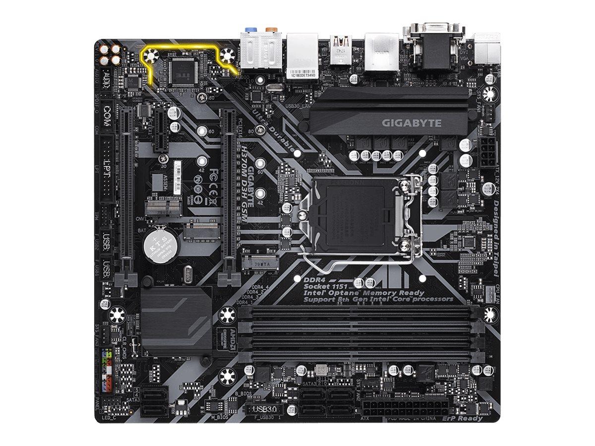 Gigabyte H370M D3H GSM - 1.0 - motherboard - micro ATX - LGA1151 Socket - H370
