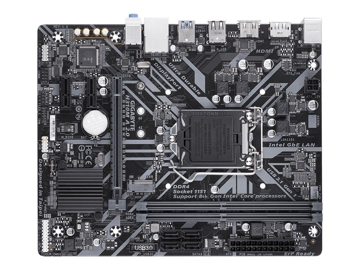Gigabyte H310M A 2.0 - 1.0 - motherboard - micro ATX - LGA1151 Socket - H310