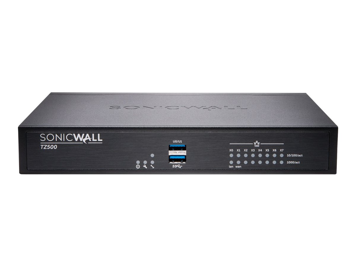 SonicWall TZ500 Wireless-AC - security appliance - Secure Upgrade Plus