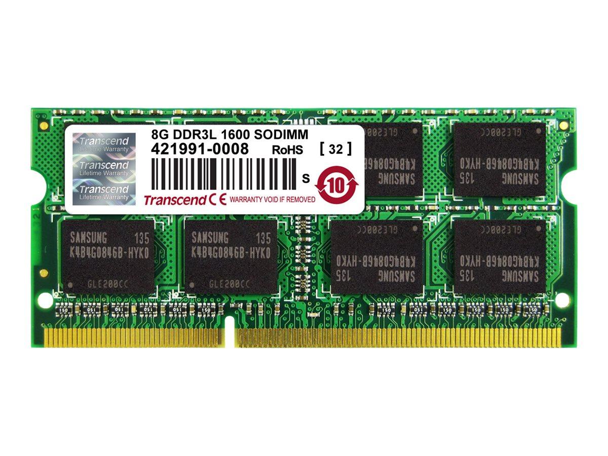 Transcend - DDR3L - module - 8 GB - SO-DIMM 204-pin - 1600 MHz / PC3L-12800 - unbuffered