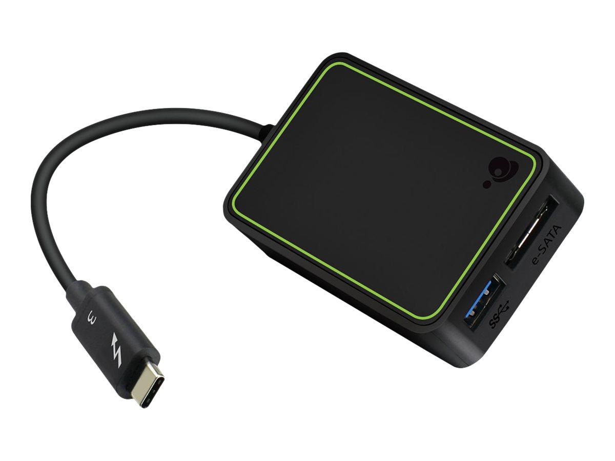 IOGear Thunderbolt 3 to eSATA and USB Adapter GTC3DEU - storage controller - eSATA 6Gb/s - Thunderbolt 3