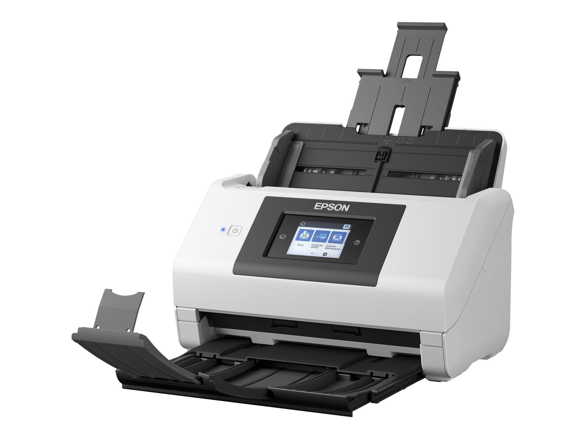 Epson WorkForce DS-780N - document scanner - desktop - USB 3.0, Gigabit LAN, USB 2.0 (Host)