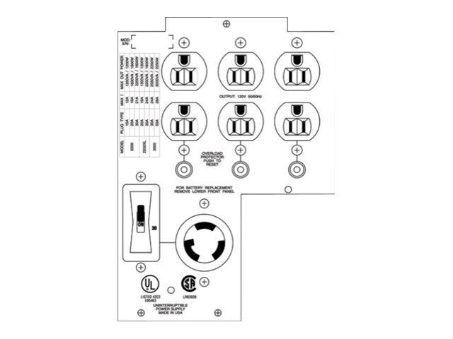 APC Backplate kit - power backplate