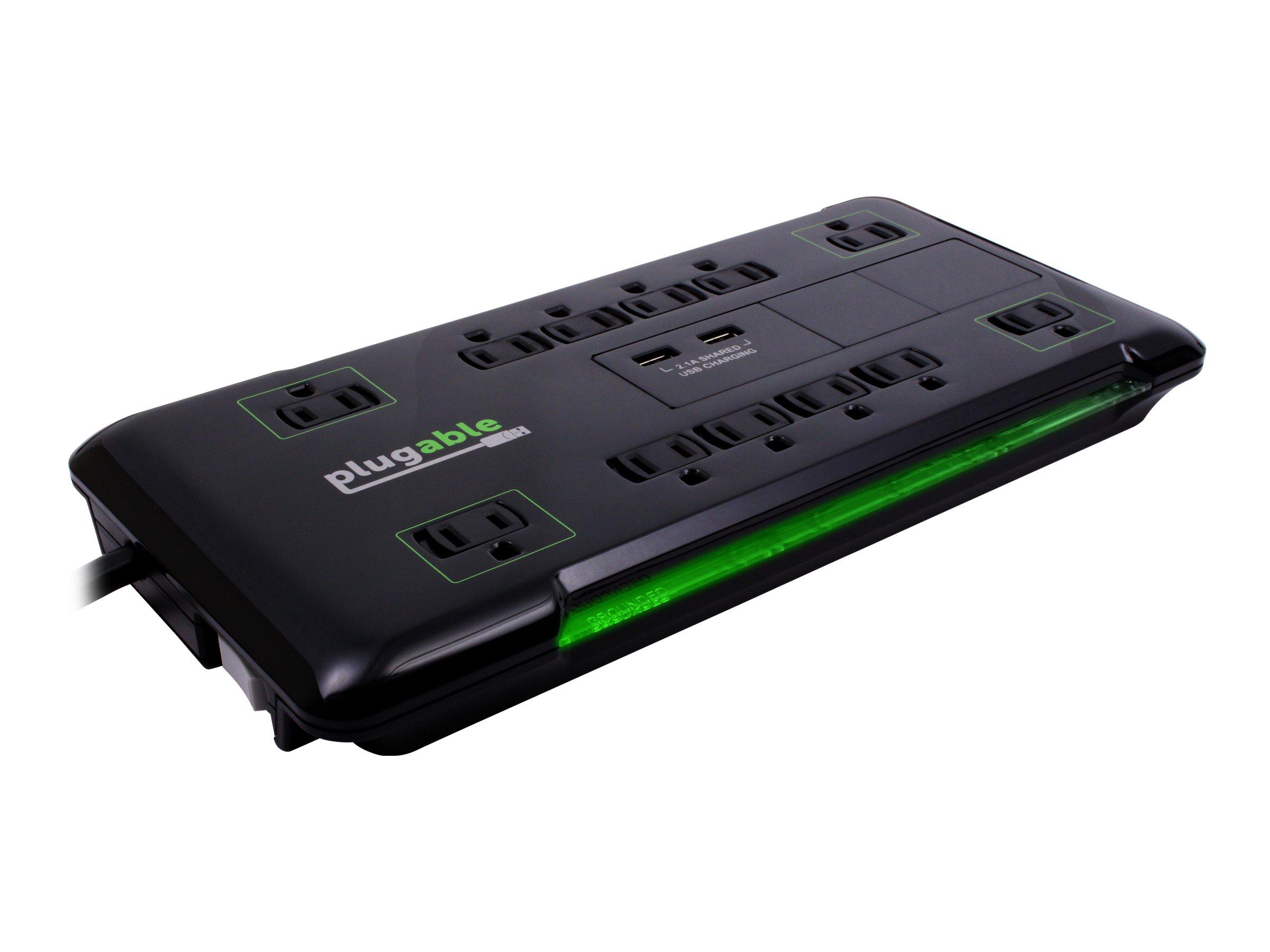 Plugable PS12-USB2B - power strip - 1800 Watt