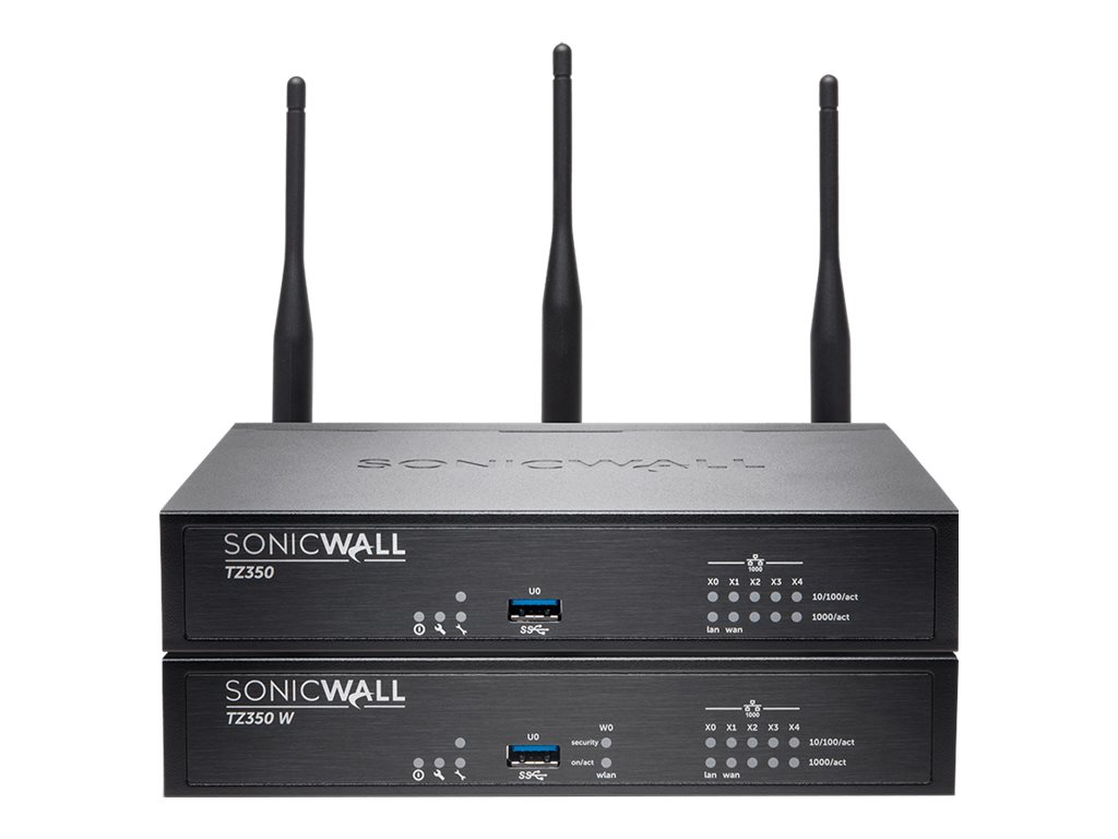 SonicWall TZ350 - security appliance - with 3 years TotalSecure