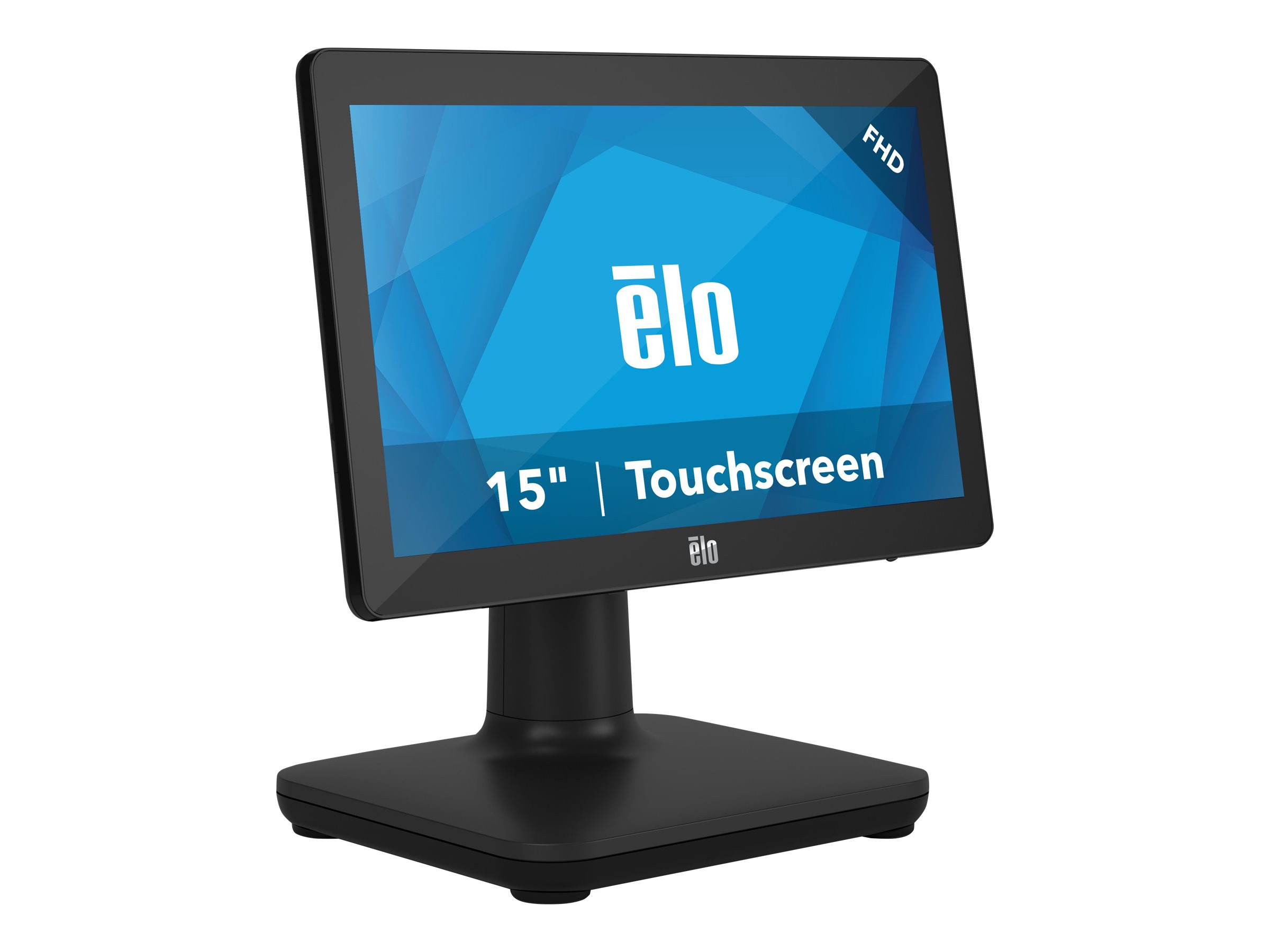 EloPOS System - with I/O Hub Stand - all-in-one - Celeron J4105 1.5 GHz - 4 GB - SSD 128 GB - LED 15.6