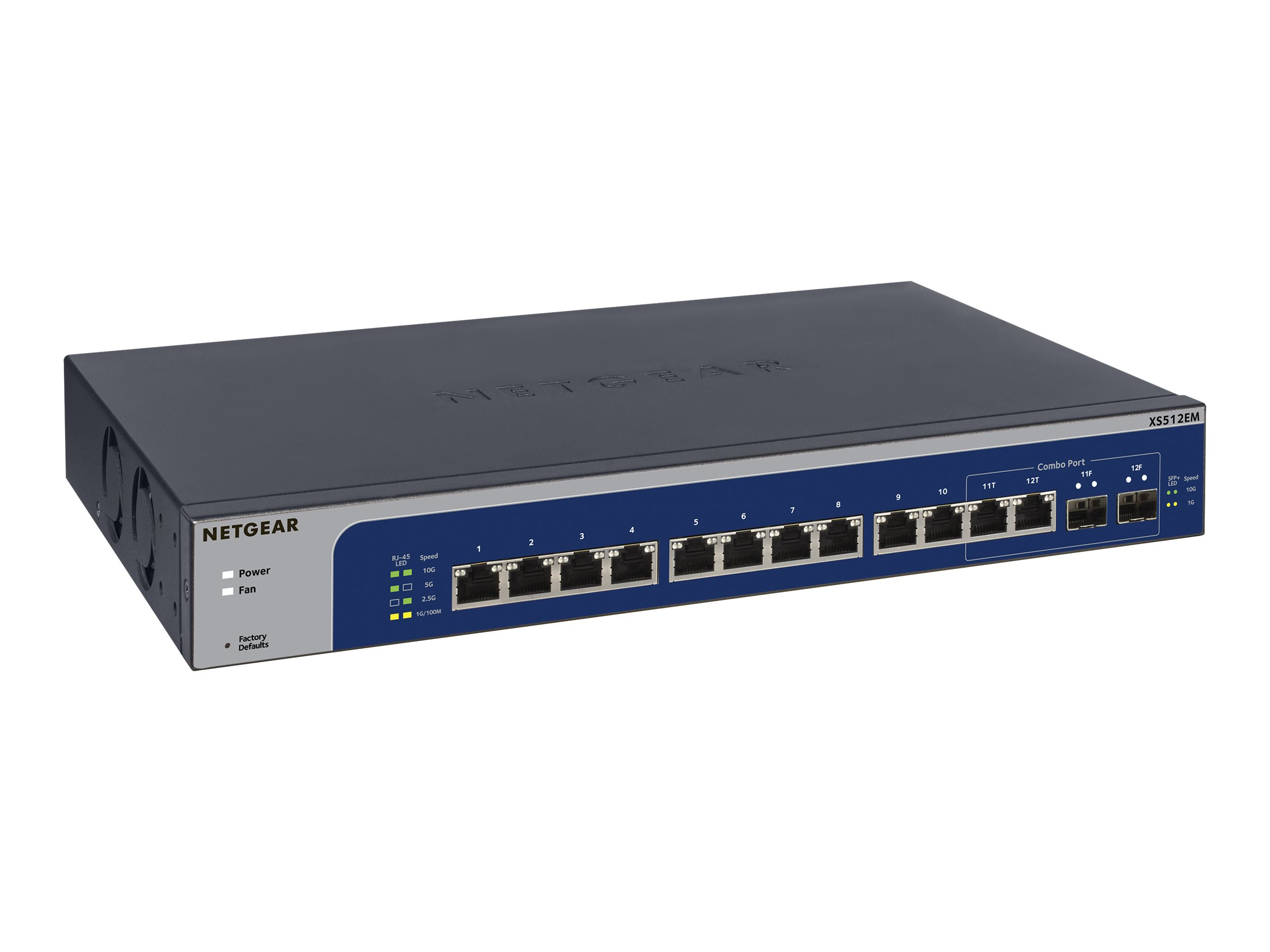 NETGEAR Plus XS512EM - switch - 12 ports - managed - rack-mountable
