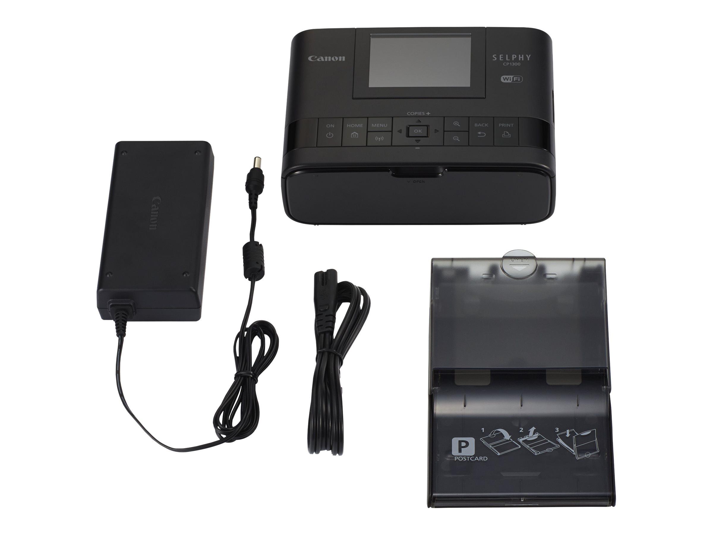 Canon SELPHY CP1300 - Battery Pack NB-CP2LH Bundle - printer - color - dye sublimation