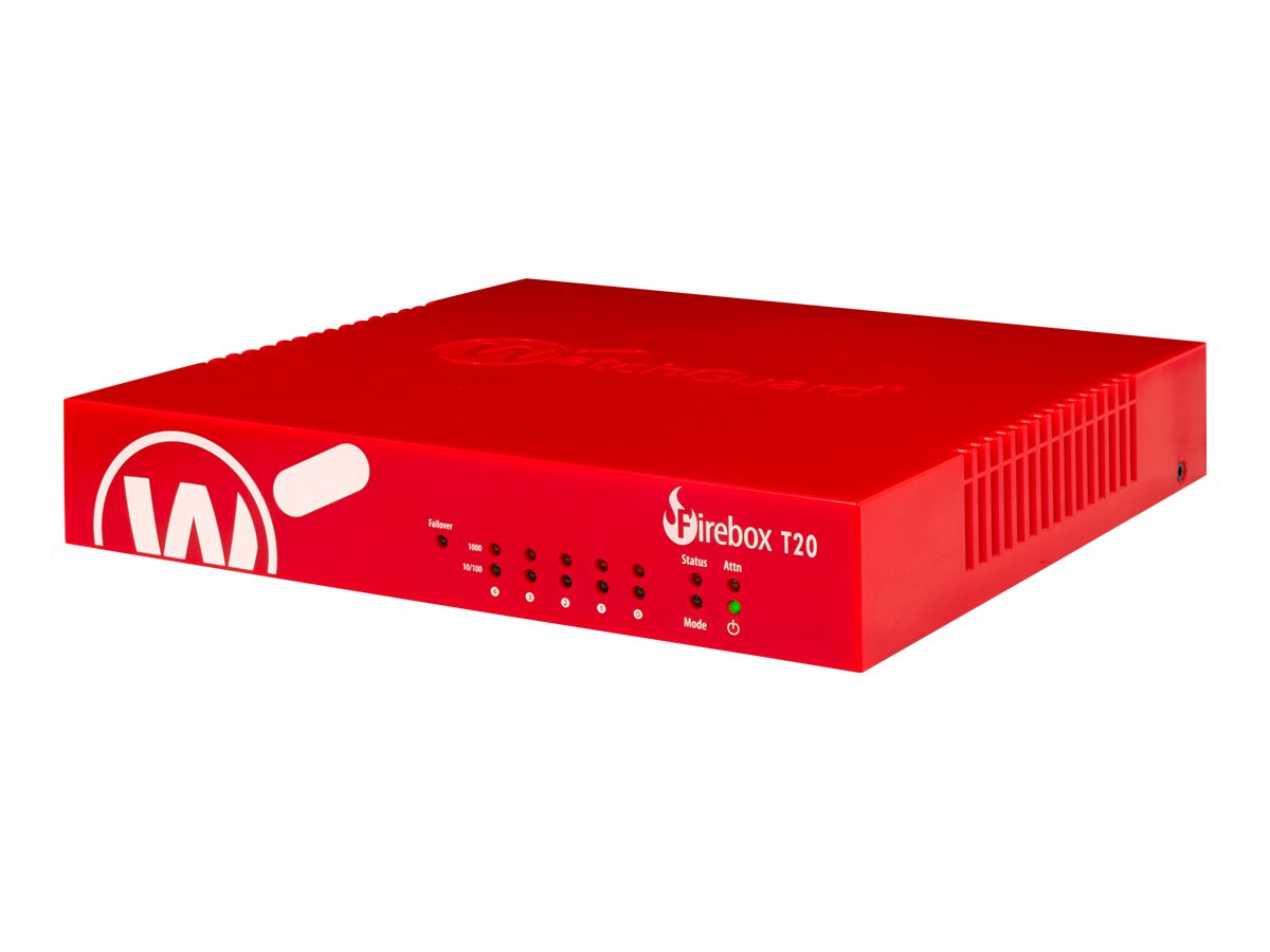 WatchGuard Firebox T20 - security appliance - with 3 years Total Security Suite