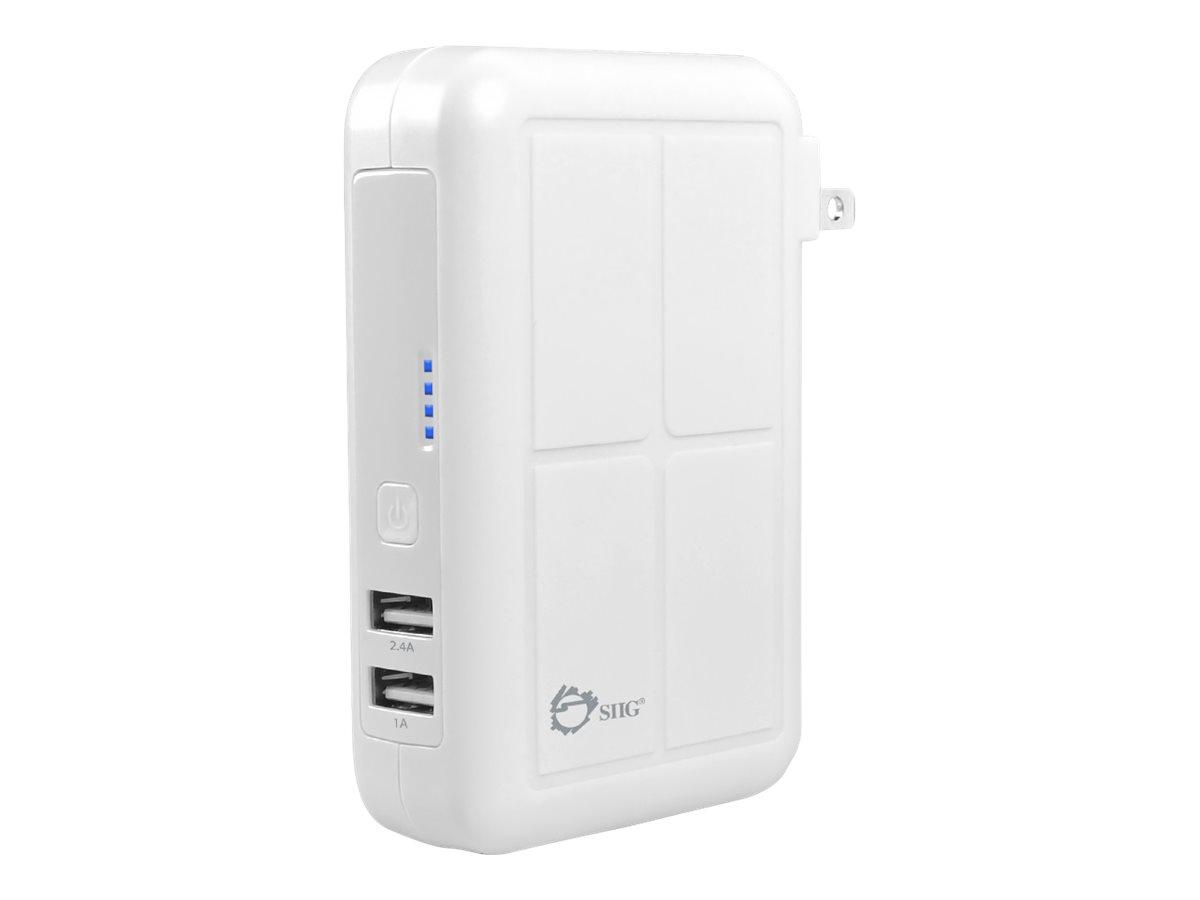SIIG 3-in1 Power Bank Charger power bank - Li-Ion - USB - 17 Watt