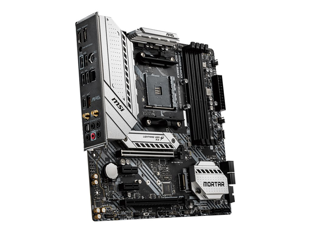 MSI MAG B550M MORTAR WIFI - motherboard - micro ATX - Socket AM4 - AMD B550
