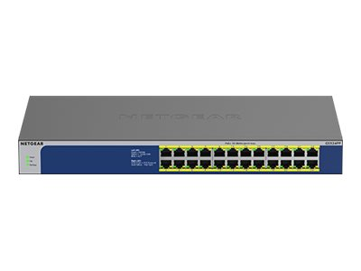 NETGEAR GS524PP - switch - 24 ports - unmanaged - rack-mountable