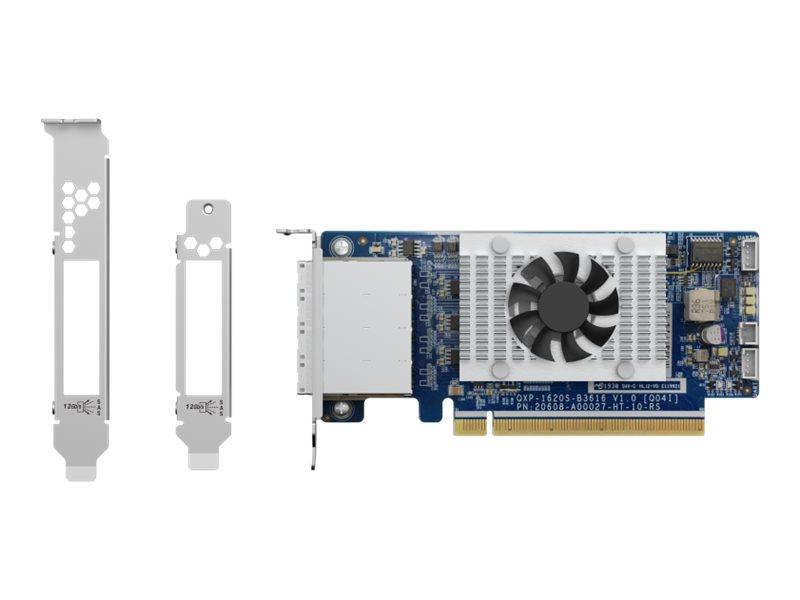 QNAP QXP-1620S-B3616W - storage controller - SATA 6Gb/s / SAS 12Gb/s / PCIe - PCIe 3.0 x16