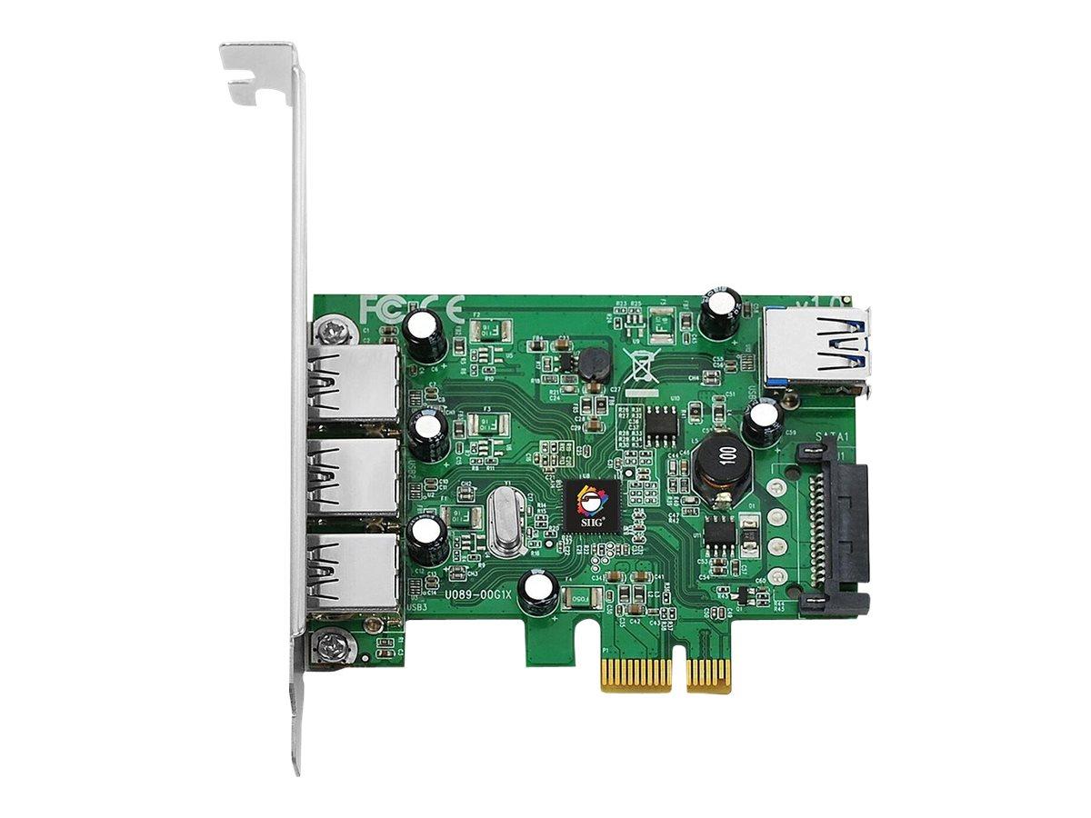 SIIG DP USB 3.0 4-Port PCIe i/e - USB adapter - 4 ports