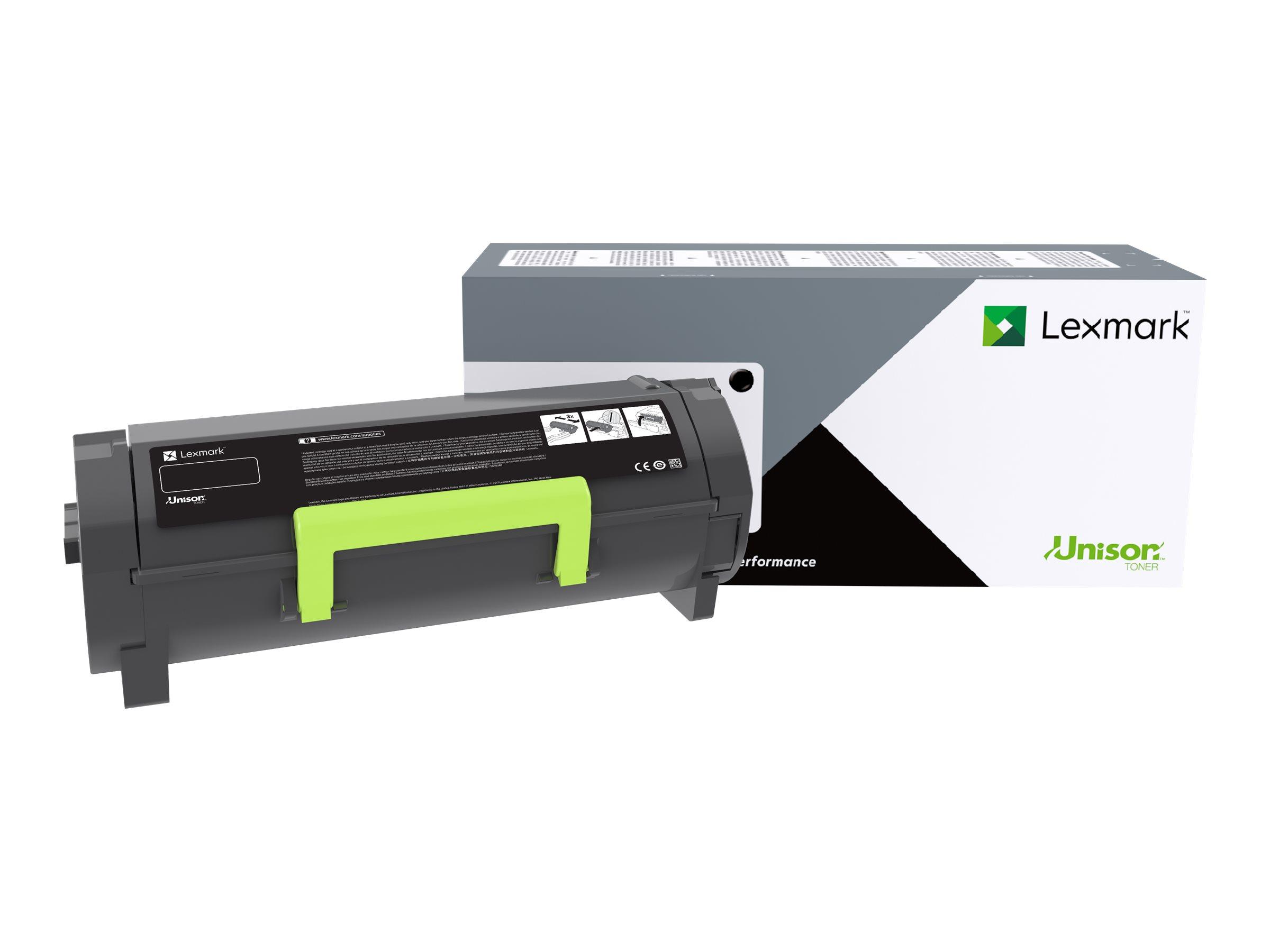 Lexmark 501G - black - original - toner cartridge ...