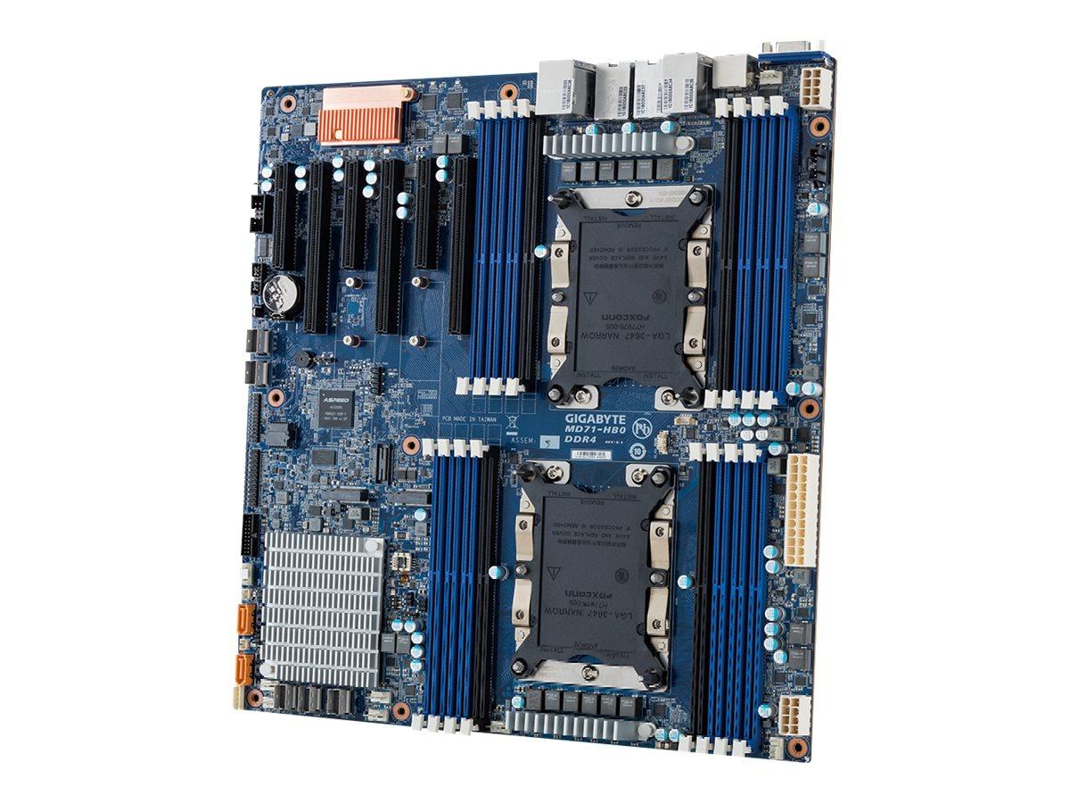 Gigabyte MD71-HB0 - 1.0 - motherboard - extended ATX - Socket P - C622
