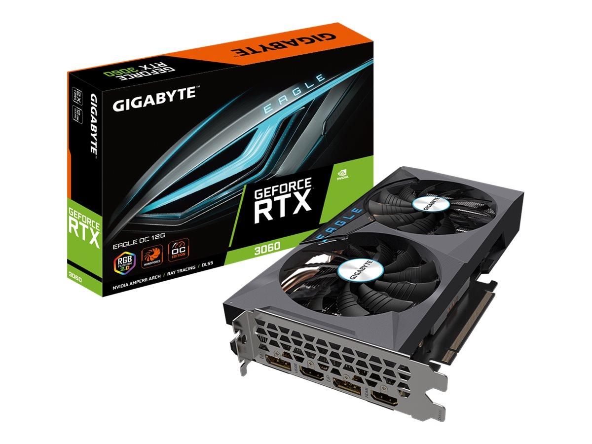Gigabyte GeForce RTX 3060 EAGLE OC 12G - OC Edition - graphics card - GF RTX 3060 - 12 GB