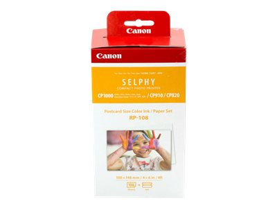 Canon RP-108 - print ribbon cassette and paper kit