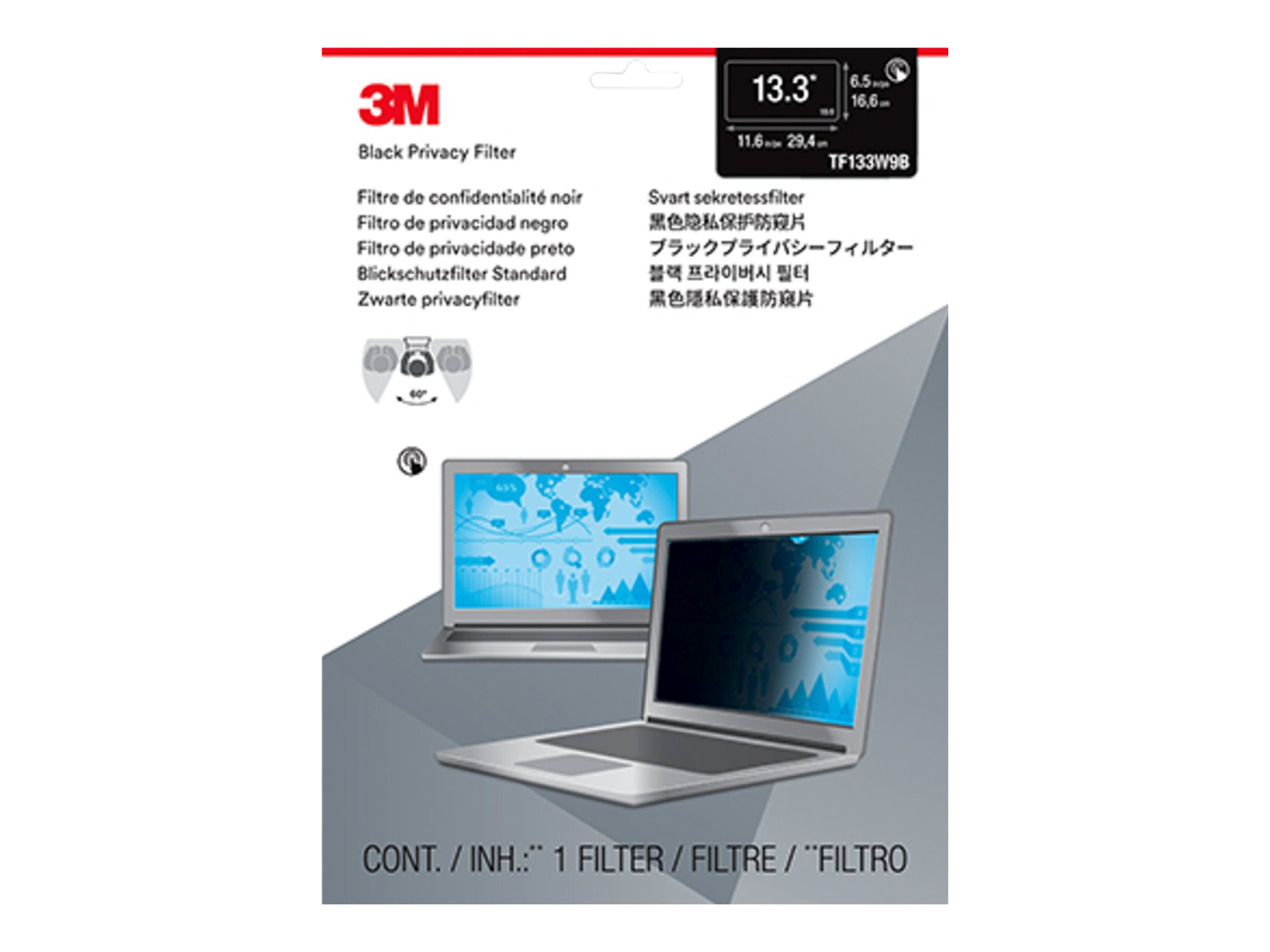 3M Touch Privacy Filter for 13.3