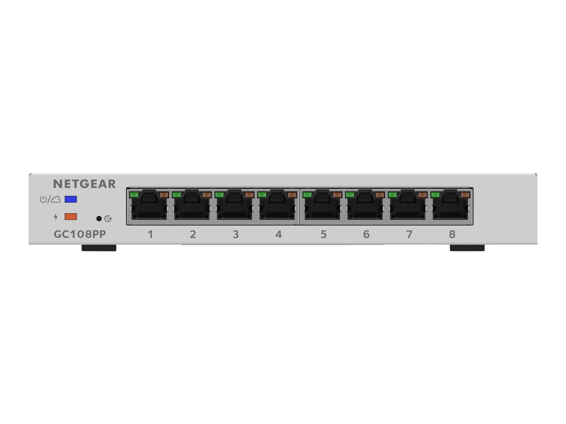 NETGEAR Smart GC108PP - switch - 8 ports - smart