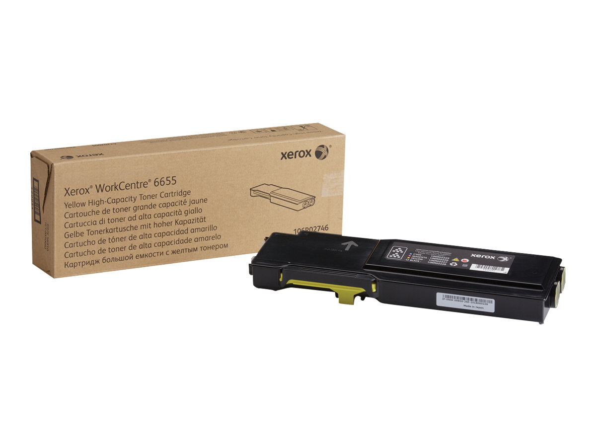 Xerox WorkCentre 6655 - High Capacity - yellow - original - toner cartridge