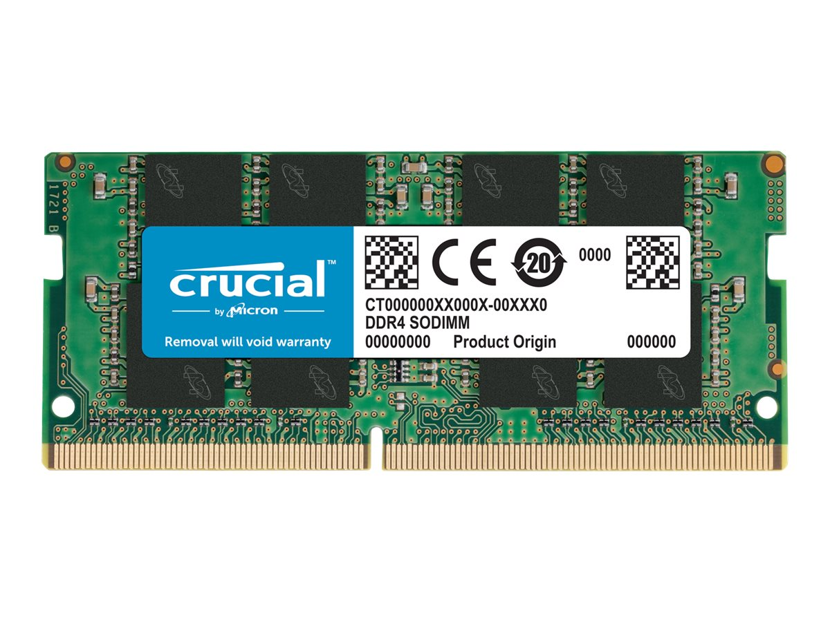 Crucial - DDR4 - module - 16 GB - SO-DIMM 260-pin - 3200 MHz / PC4-25600 - unbuffered