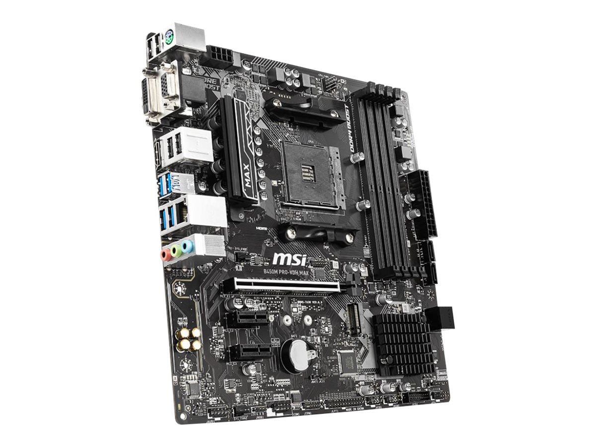 MSI B450M PRO-VDH MAX - motherboard - micro ATX - Socket AM4 - AMD B450