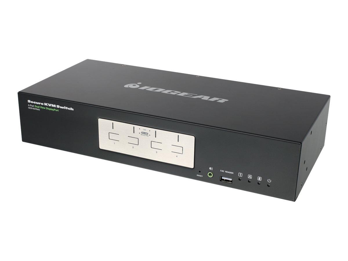 IOGEAR 4-Port Dual View DisplayPort Secure KVM Switch GCS1424TAA3 - KVM / audio switch - 4 ports