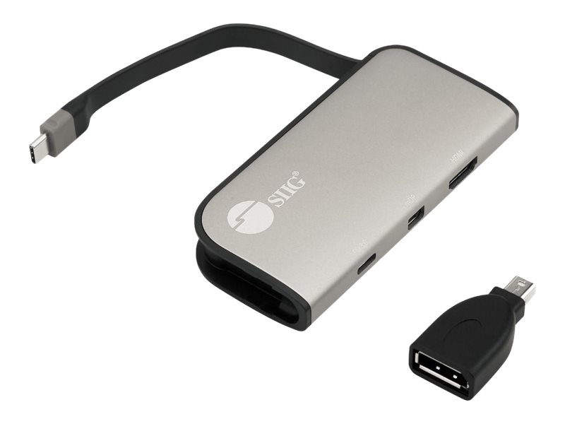 SIIG USB-C to mDP & HDMI VXP Video Adapter with 100W PD 3.0 - video interface converter