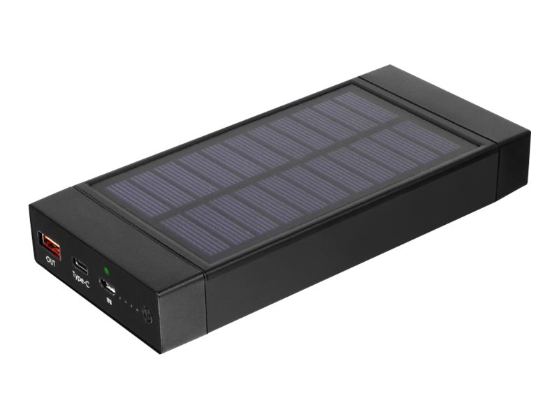 Aluratek APBQ16F solar power bank - Li-Ion - USB, USB-C