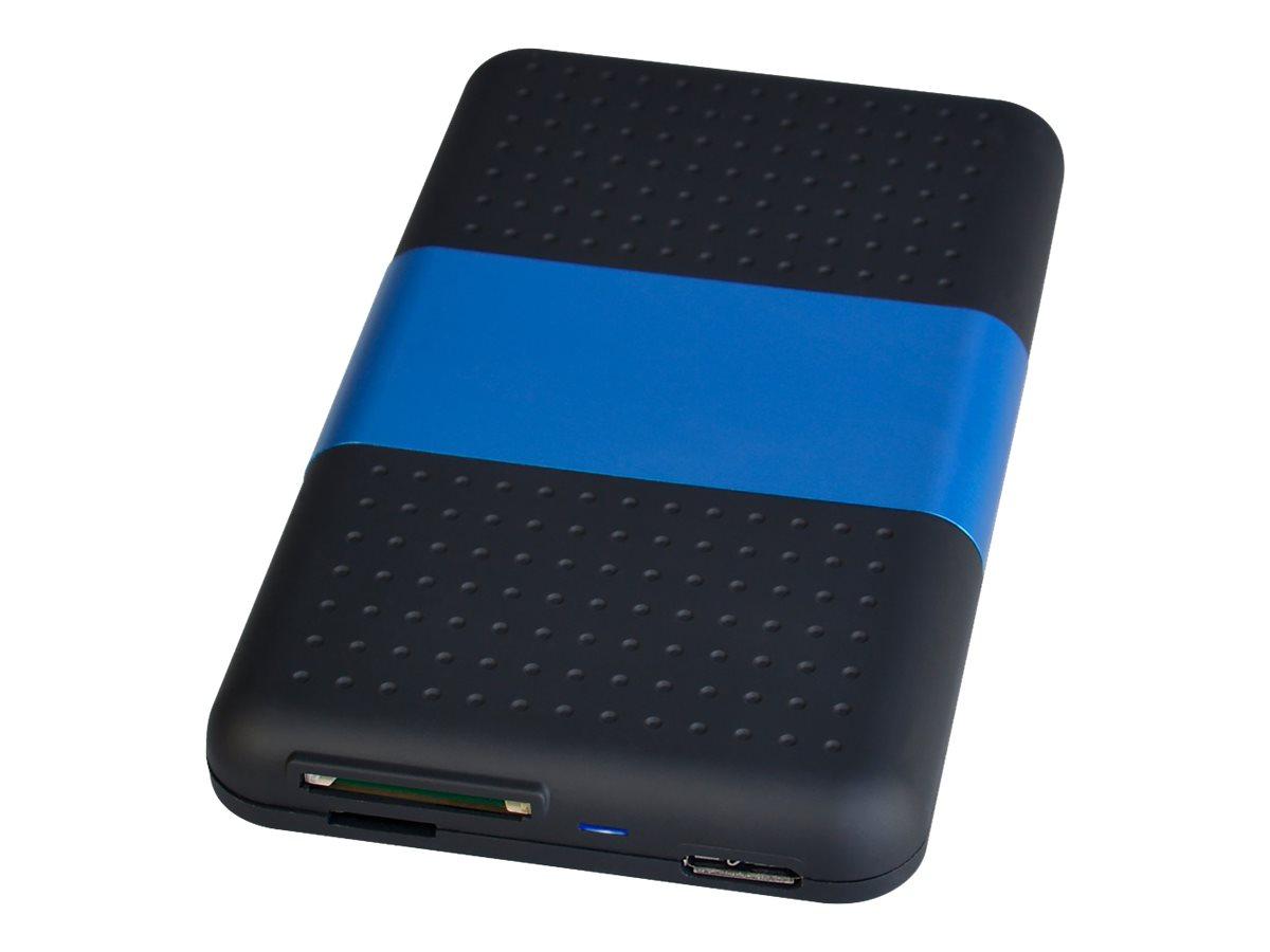 SIIG USB 3.0 to SATA Hard Drive with SD Reader Enclosure - storage enclosure - SATA 6Gb/s - USB 3.0