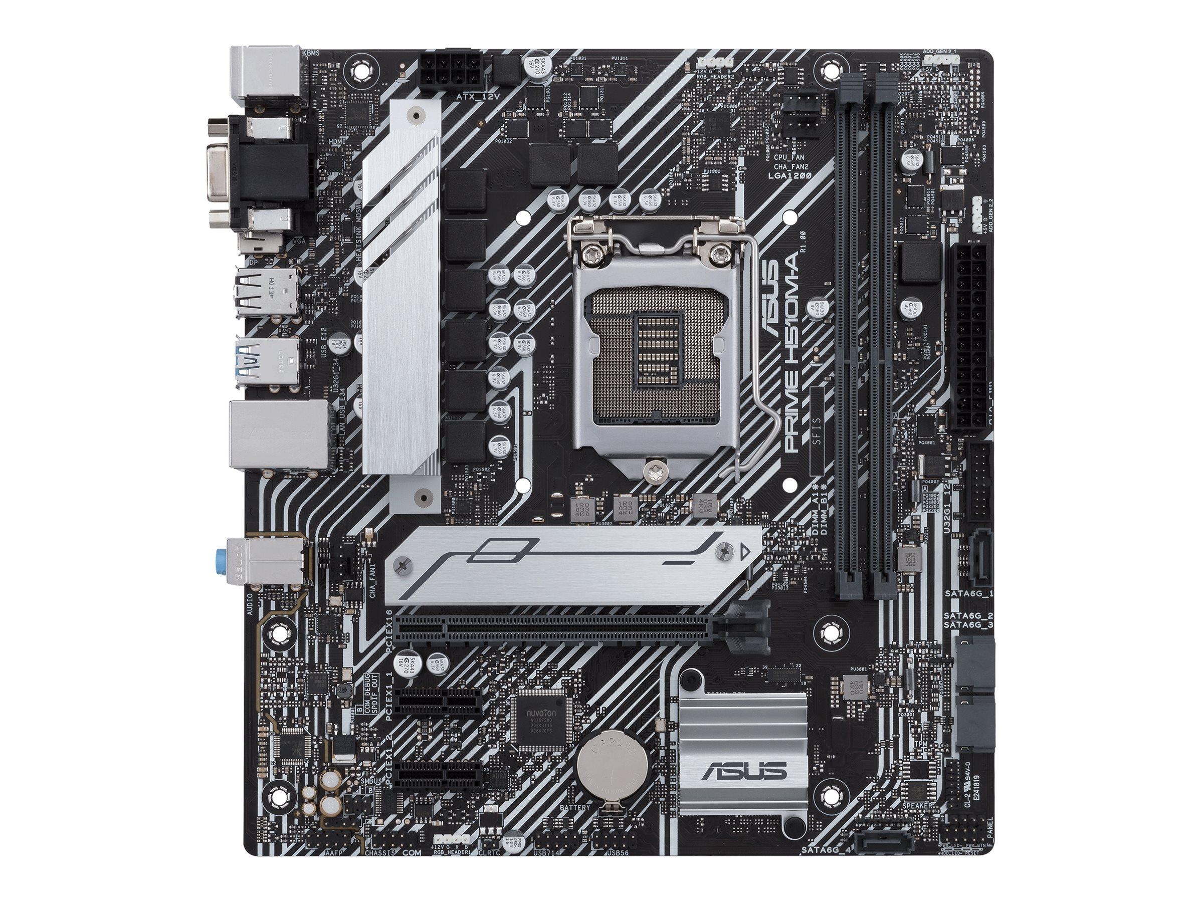 ASUS PRIME H510M-A/CSM - motherboard - micro ATX - LGA1200 Socket - H510