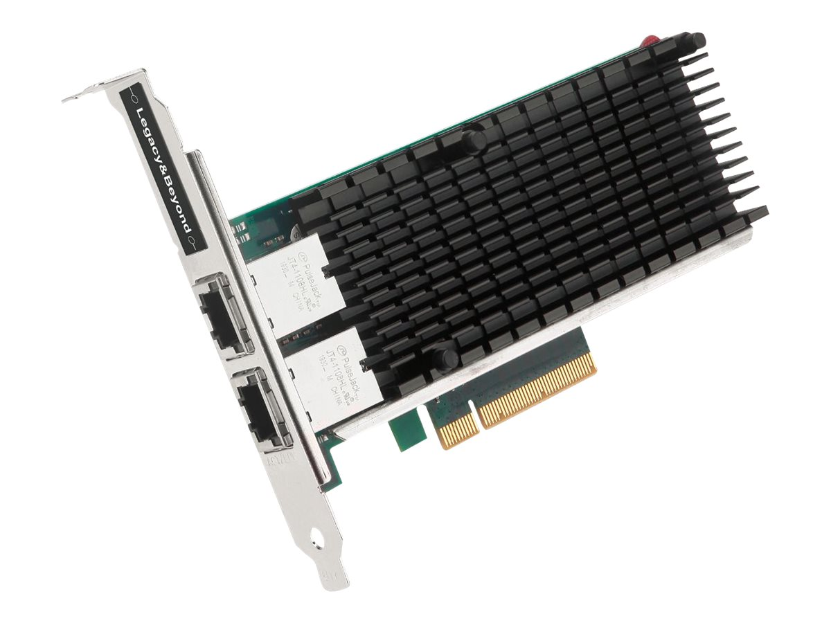 SIIG Dual Port 10G Ethernet Network PCI Express - network adapter - PCIe x8 - 100M/1G/10 Gigabit Ethernet x 2