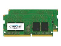 Crucial - DDR4 - kit - 16 GB: 2 x 8 GB - SO-DIMM 260-pin - 2400 MHz / PC4-19200 - unbuffered