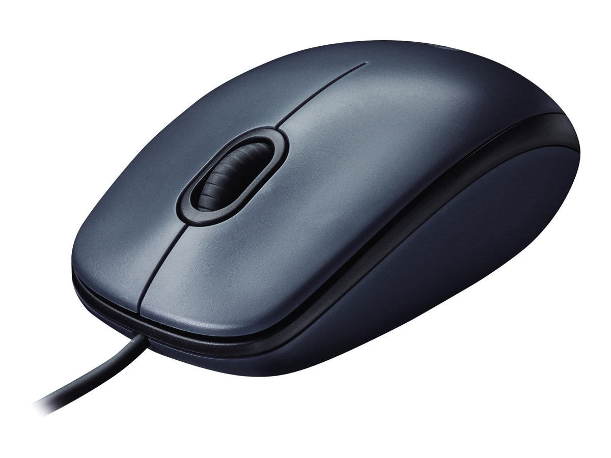 Logitech M100 - mouse - USB - black