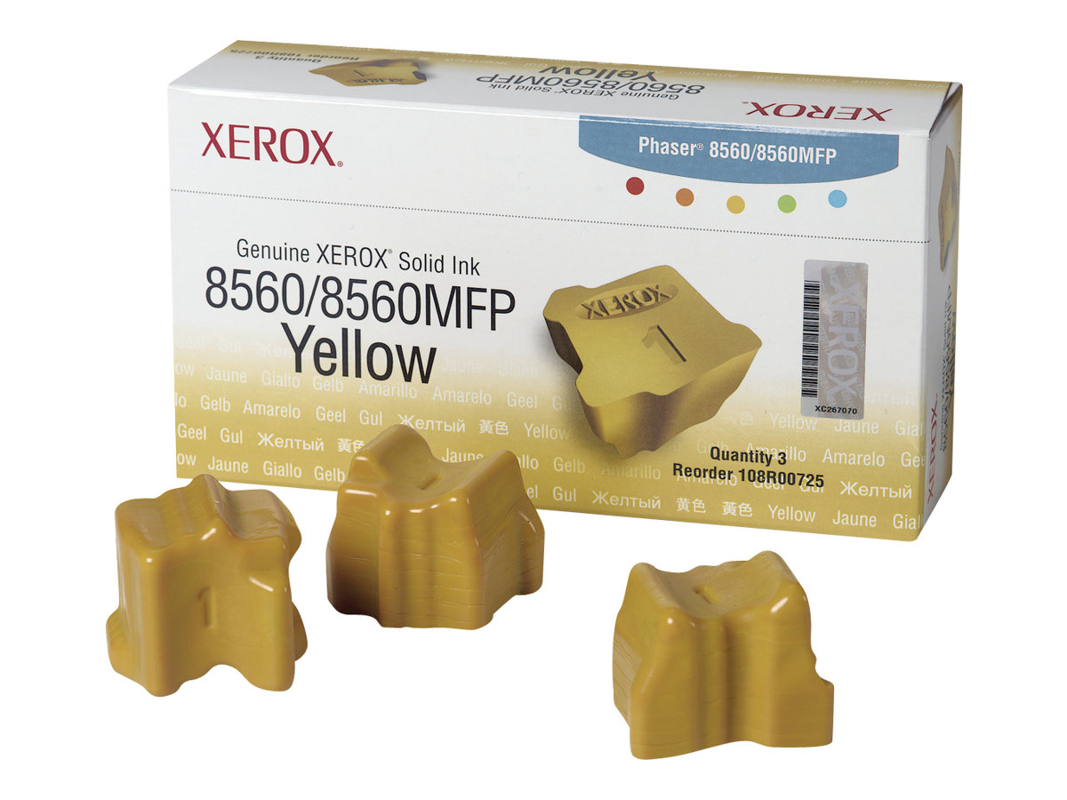Xerox Phaser 8560MFP - 3-pack - yellow - solid inks