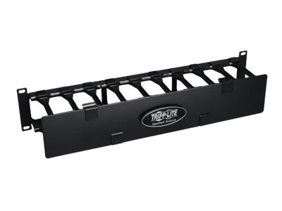 Tripp Lite Rack Enclosure Horizontal Cable Manager Steel w Finger Duct 2URM rack cable management duct with cover - 2U