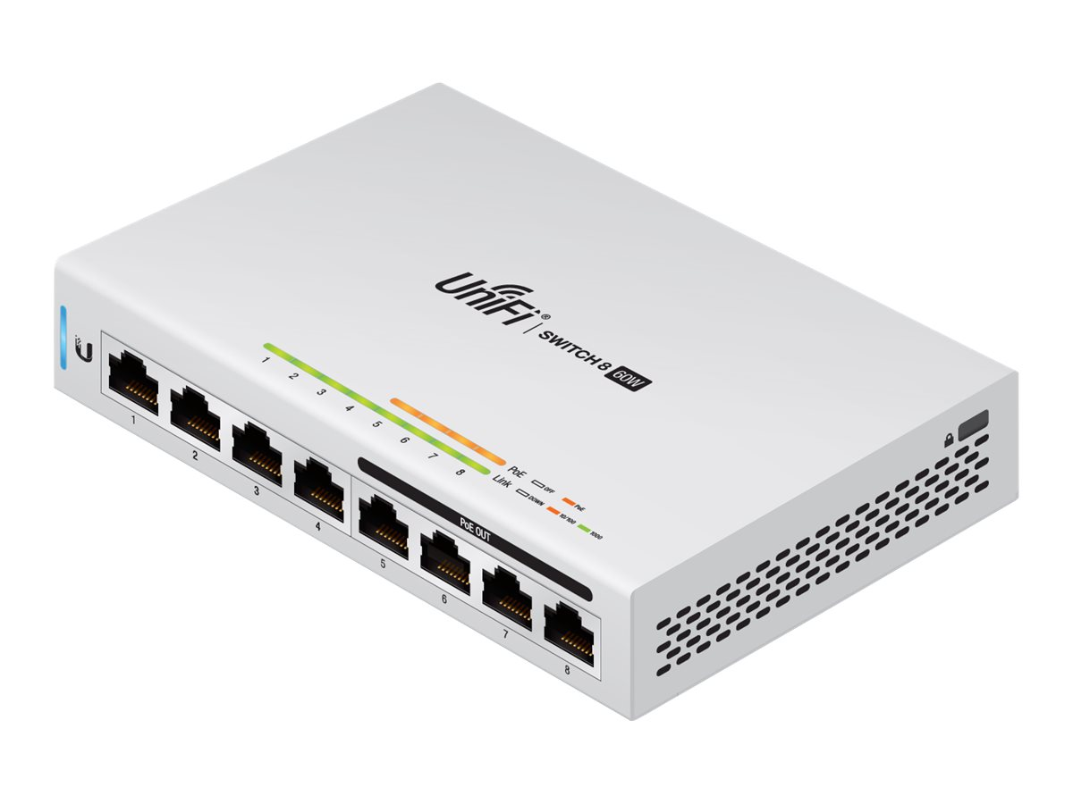 Ubiquiti UniFi Switch US-8-60W - switch - 8 ports - managed