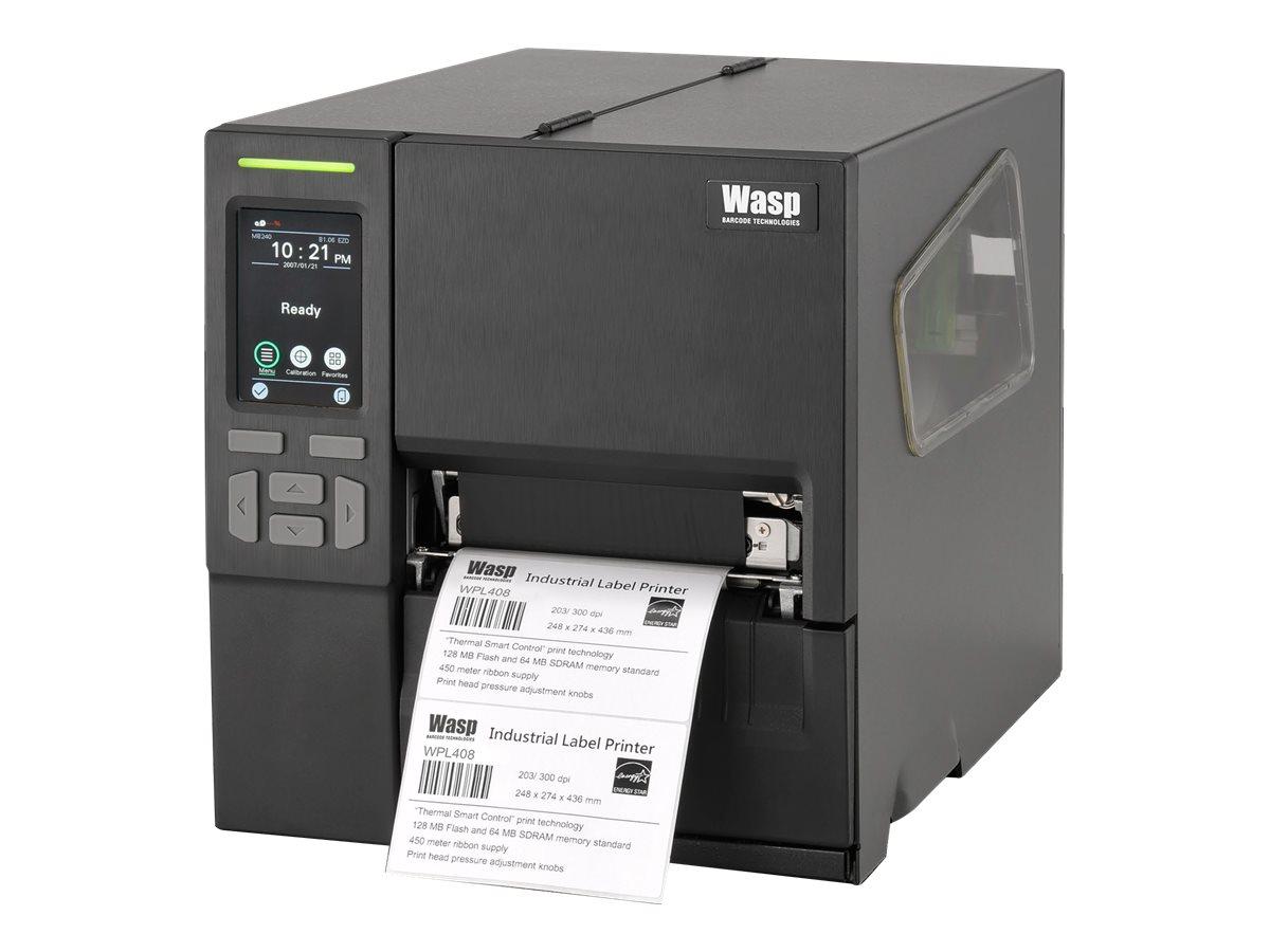 Wasp WPL408 - label printer - B/W - direct thermal / thermal transfer