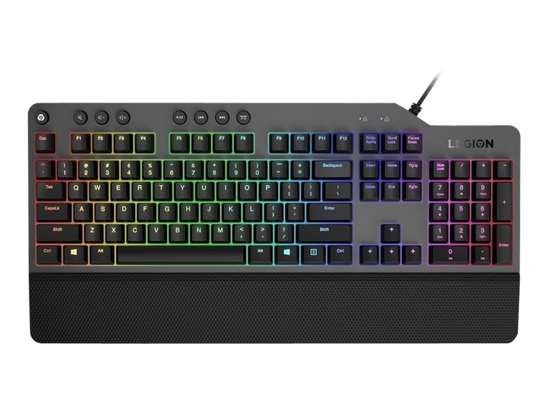 Lenovo Legion K500 - keyboard - US - black, iron gray