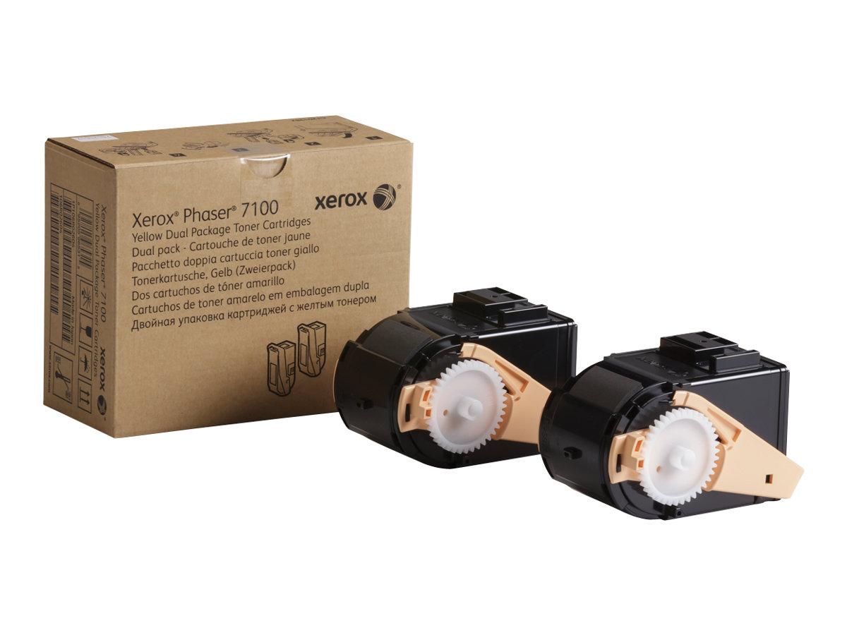 Xerox Phaser 7100 - 2-pack - High Capacity - yellow - original - toner cartridge