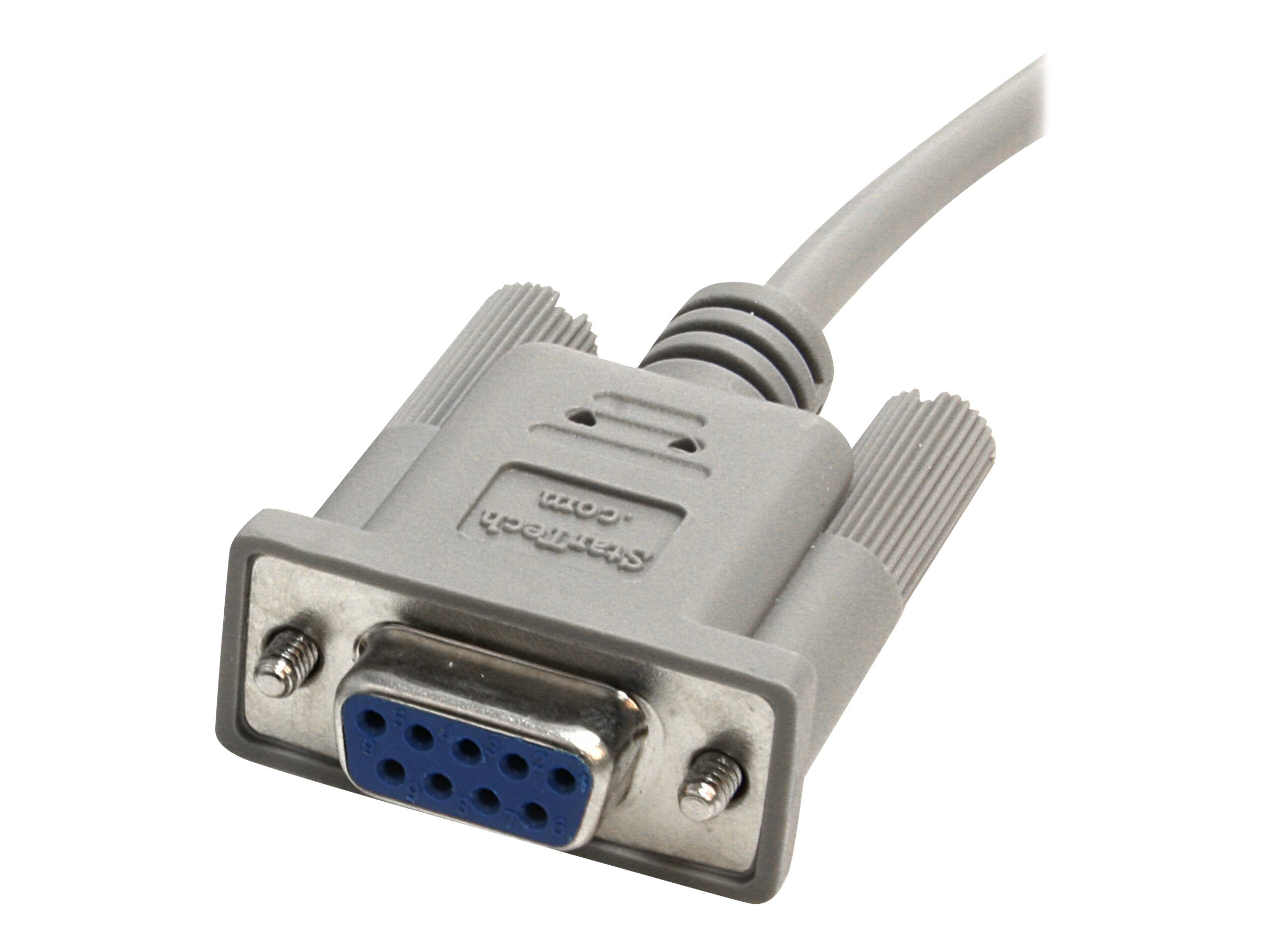 StarTech.com 10' RS232 Serial Null Modem Cable - Null modem cable - DB-9 (F) to DB-9 (F) - 10 ft - SCNM9FF - null modem cable - DB-9 to DB-9 - 10 ft