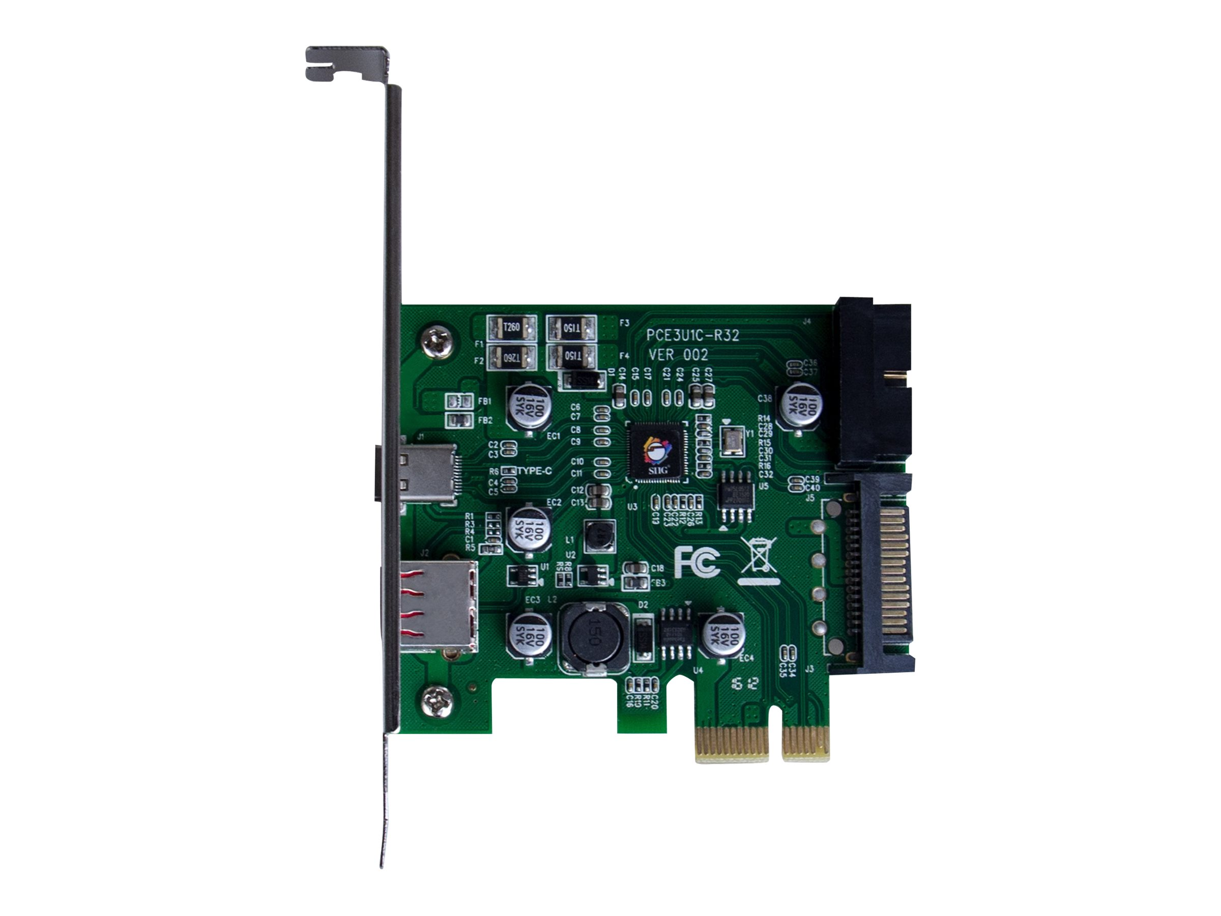 SIIG JU-P20C11-S1 - USB adapter - PCIe - USB (power only) x 1 + USB-C x 1 + USB 3.0 (internal) x 1