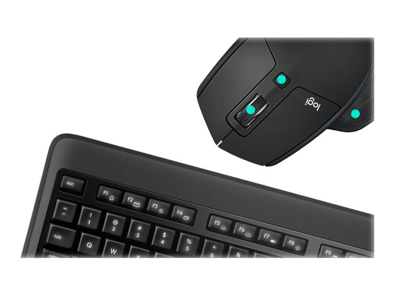 Logitech Performance Combo MX900 - keyboard and mouse set - black