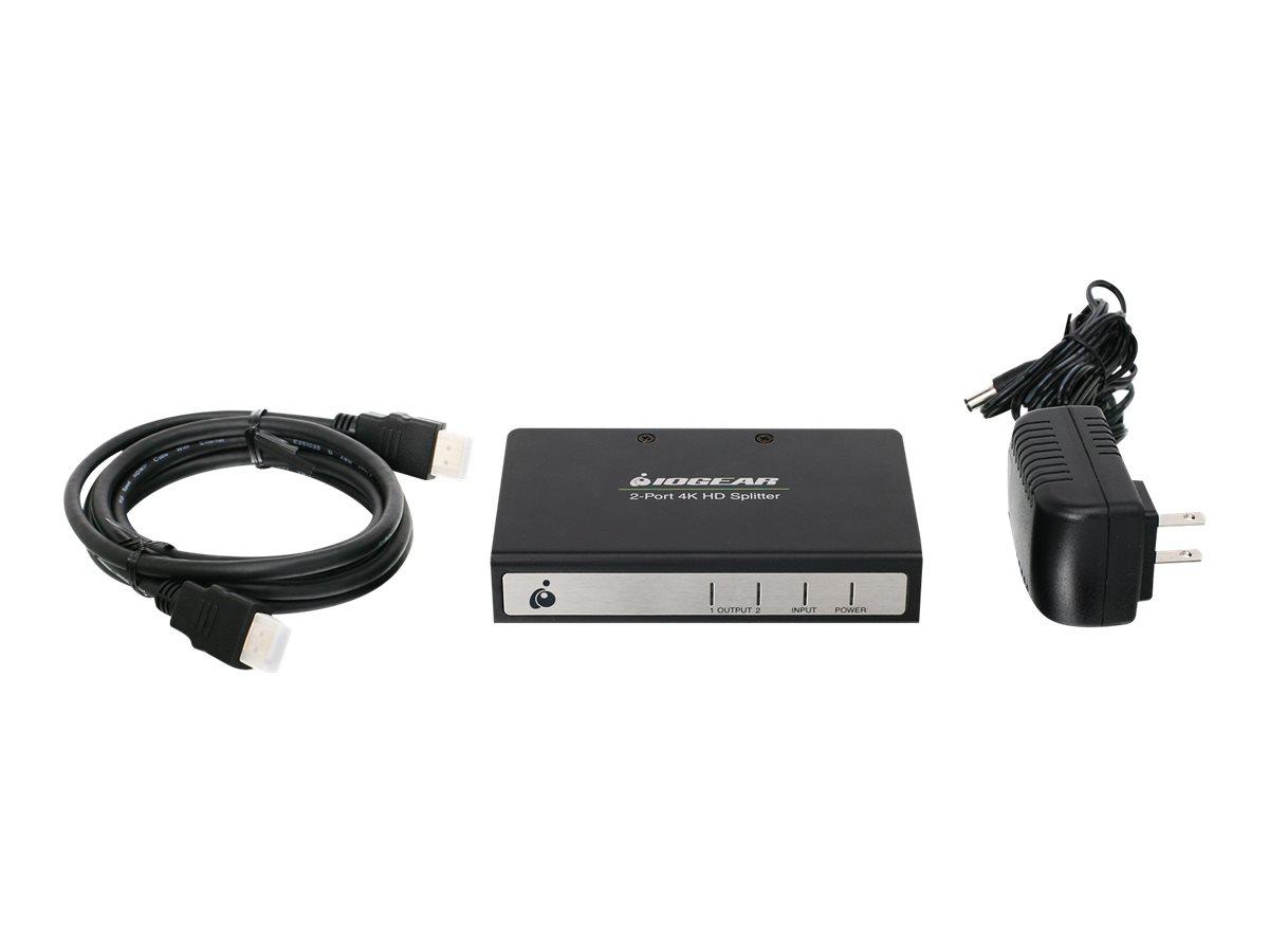 IOGEAR GHSP8422B - video/audio splitter - 2 ports