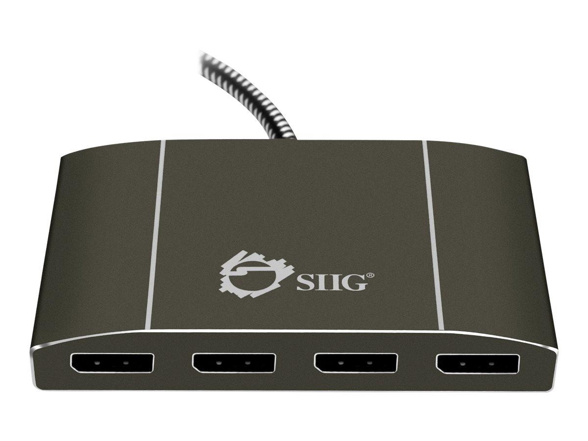 SIIG DisplayPort 1.2 to 4-Port DisplayPort MST Splitter - video/audio splitter - 4 ports