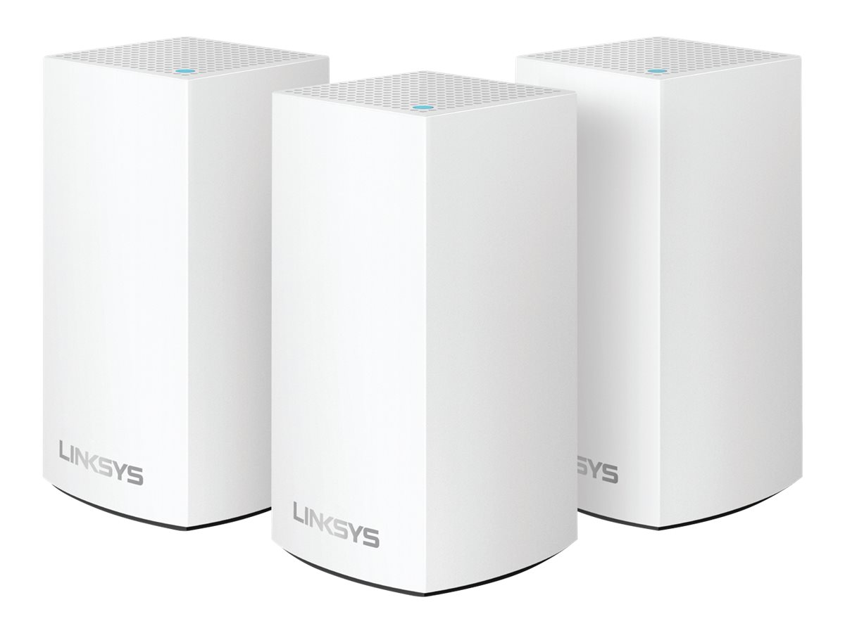 Linksys VELOP Whole Home Mesh Wi-Fi System WHW0103 - Wi-Fi system - 802.11a/b/g/n/ac, Bluetooth 4.1 - desktop