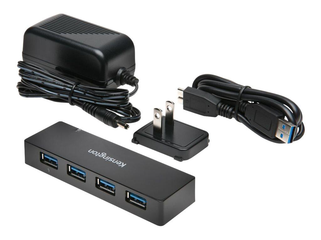 Kensington UH4000C USB 3.0 4-Port Hub + Charging - hub - 4 ports
